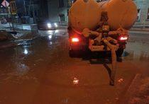 В Якутске с улиц откачано около двух тысячи кубометров талой воды