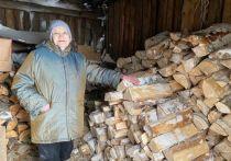 Одинокой пенсионерке из Салехарда помогли запастись дровами общественники ЯНАО