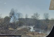 Мост через реку Шелонь сгорел в Дедовичском районе
