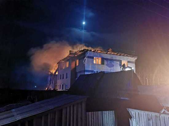 Опубликовано видео с места взрыва газа в доме под Нижним Новгородом