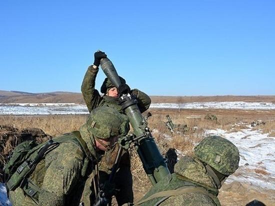 Артиллеристы Бурятии сдают зачёт по обучению за зиму