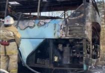 В Нижегородской области загорелся автобус с