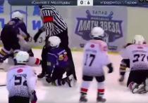 9-летний хоккеисты из Глазова подрались на матче с командой соперников