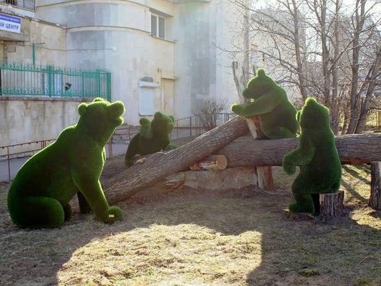 В Чебоксарах управляющие компании украшают территорию арт-объектами