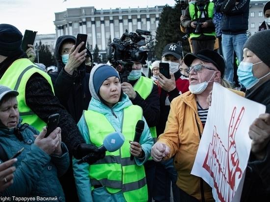 Несанкционированный протест в Улан-Удэ вытеснили с главной площади