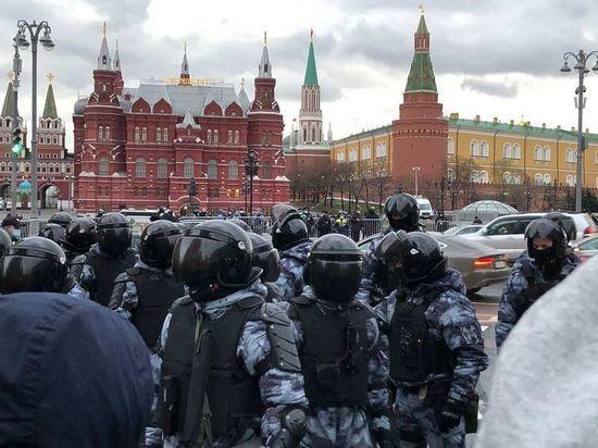 ОНК: в Москве задержаны 20 участников несанкционированной акции