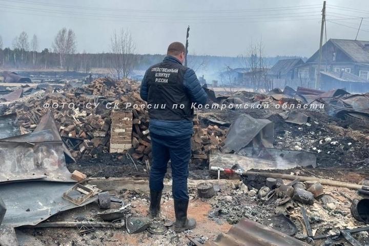 Одинокая костромская пенсионерка погибла при пожаре в поселке Лажборовица  Вохомского района