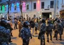 На митинге «навальнистов» задержали два десятка человек