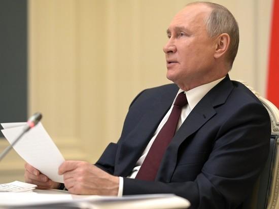 Участники могли наблюдать, как российский лидер готовится к выступлению