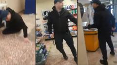 Украинец разгромил топором супермаркет из-за просьбы надеть маску: видео