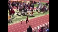 Сорвавшийся с поводка пес выиграл соревнования по легкой атлетике: видео