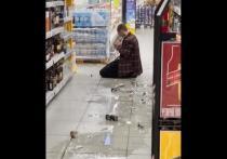 В Новосибирске мужчина разбил витрины в магазине и попросил убить его