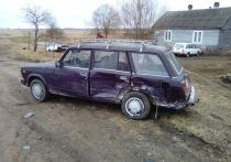 Два легковых авто столкнулись вечером в субботу в Смоленском районе, есть пострадавший
