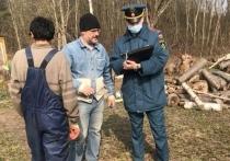 Жильцам жилого сектора в Пскове напомнили о пожарной безопасности