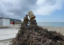 Активисты убрали мусор в прибрежной зоне Геленджика