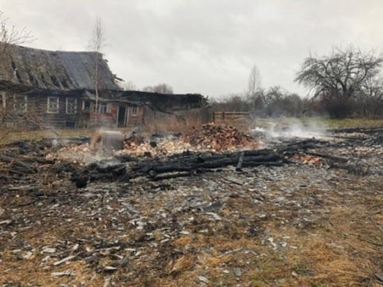 Во время пожара в Тверской области сгорел мужчина