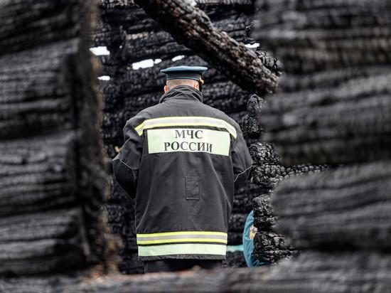 Жилой дом сгорел в Пушкиногорском районе