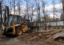 Первый этап реконструкции близится к завершению в парке Степанова в Серпухове