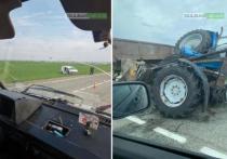 В ДТП на кубанской трассе разбился трактор