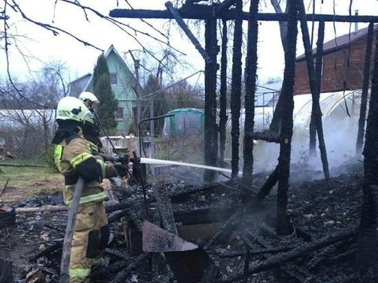 Дача дотла сгорела под Боровском