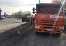 В Барнауле начали ремонт дороги, ведущей к Старому мосту