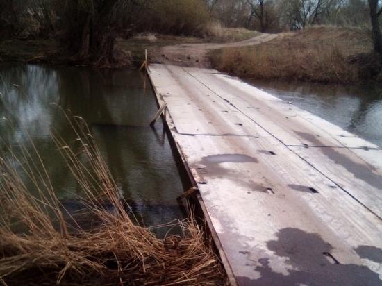 В Скопинском районе от воды освободился мост у села Шелемишево