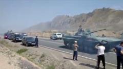 Появилось видео из зоны военного конфликта Таджикистана и Киргизии