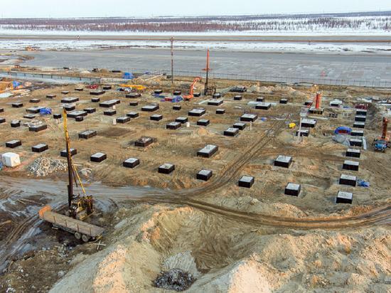 Строительство фундамента под пассажирский терминал аэропорта Нового Уренгоя завершено
