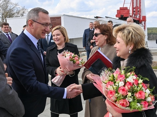 В Калуге побывала дочь Юрия Гагарина