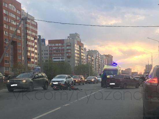 На улице Большой в Рязани в аварии пострадал мотоциклист