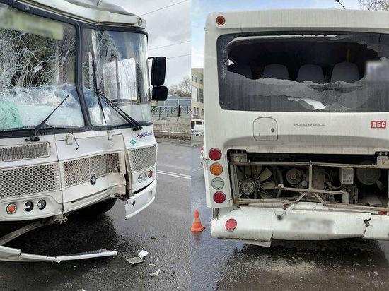 В Архангельске произошло ДТП с участием пассажирских автобусов