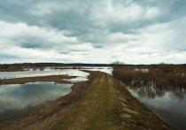 В Мысках с подтопленных участков ушла вода