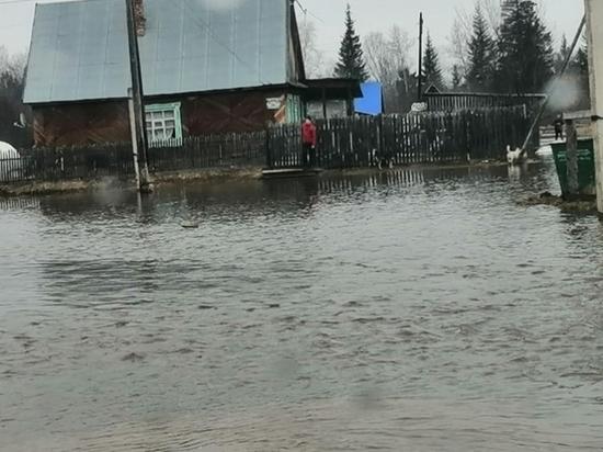 В Красноярском крае затопило поселок Косачи