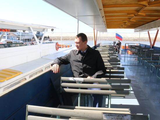 Михаил Дегтярев лично проверил готовность речного транспорта прокатившись на теплоходе