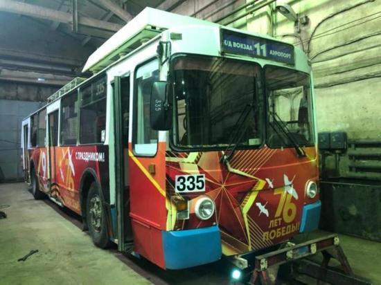 На ивановские улицы выехал «Троллейбус Победы»