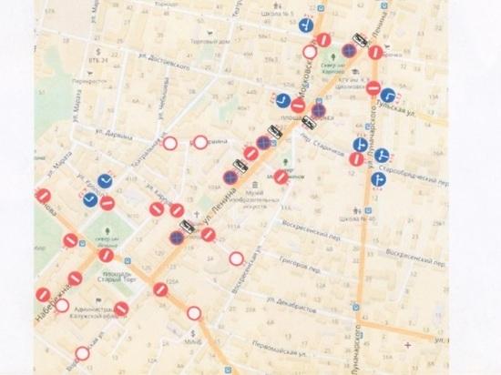 В Калуге около 15 улиц перекроют в День Победы