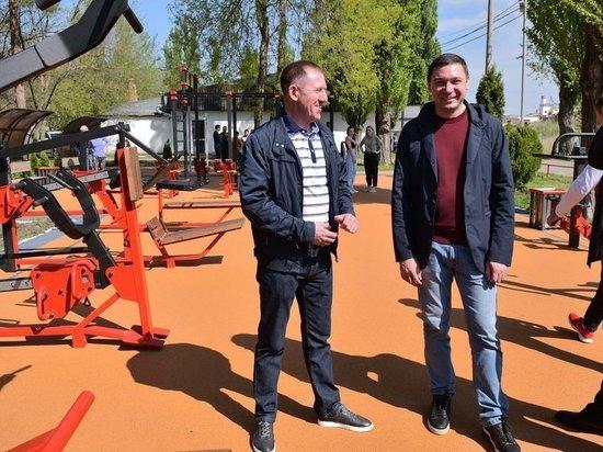 Площадки с новыми тренажерами открыты в парке Краснодара «Солнечный Остров»
