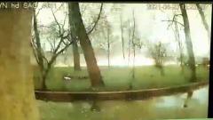 Москвичка едва не сгорела заживо: видео обрушения уличных электропроводов