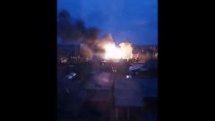Появилось видео пожара под Пермью, где погибла семья из восьми человек