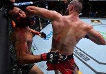 """В Лас-Вегасе (США) прошел турнир по смешанным единоборствам UFC on ESPN 23. Главный поединок шоу превзошел все ожидания и завершился жестким нокаутом. """"МК-Спорт"""" рассказывает подробности."""