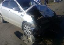 На приграничной с Казахстаном трассе подросток за рулем Киа протаранил ВАЗ, есть пострадавшие