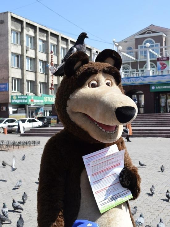В центре Улан-Удэ гулял медведь