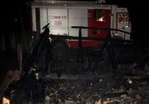 В Красноярском крае под Лесосибирском загорелся дачный дом, в результате пожара погибли двое человек