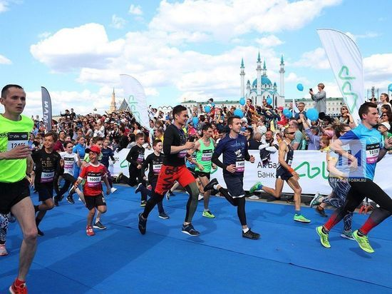Казанский марафон пробежало рекордное количество участников