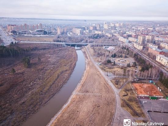 Строительство новой кемеровской набережной показали с высоты птичьего полёта