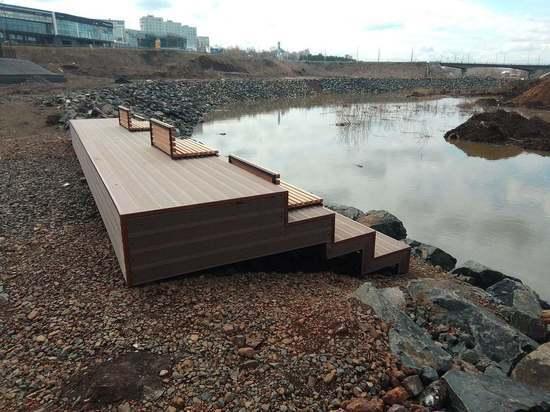 В Кемерове у реки появилась новая смотровая площадка