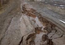В Некоузском районе Ярославской области размыло последнюю дорогу