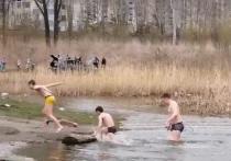 Дети открыли купальный сезон в Первомайском районе Новосибирска