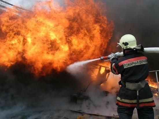 В Хакасии горит степь