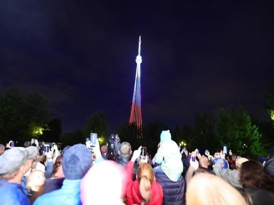 Челябинская телебашня «засветилась» в поддержку «Бессмертного полка»